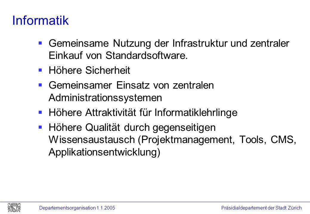 Informatik Gemeinsame Nutzung der Infrastruktur und zentraler Einkauf von Standardsoftware. Höhere Sicherheit.