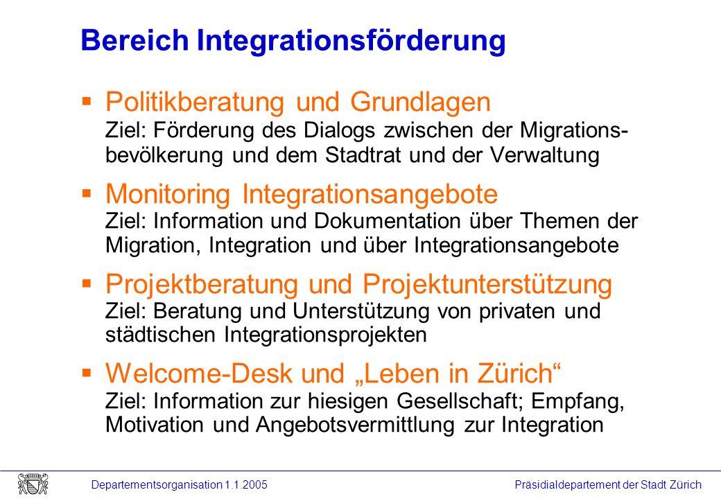 Bereich Integrationsförderung