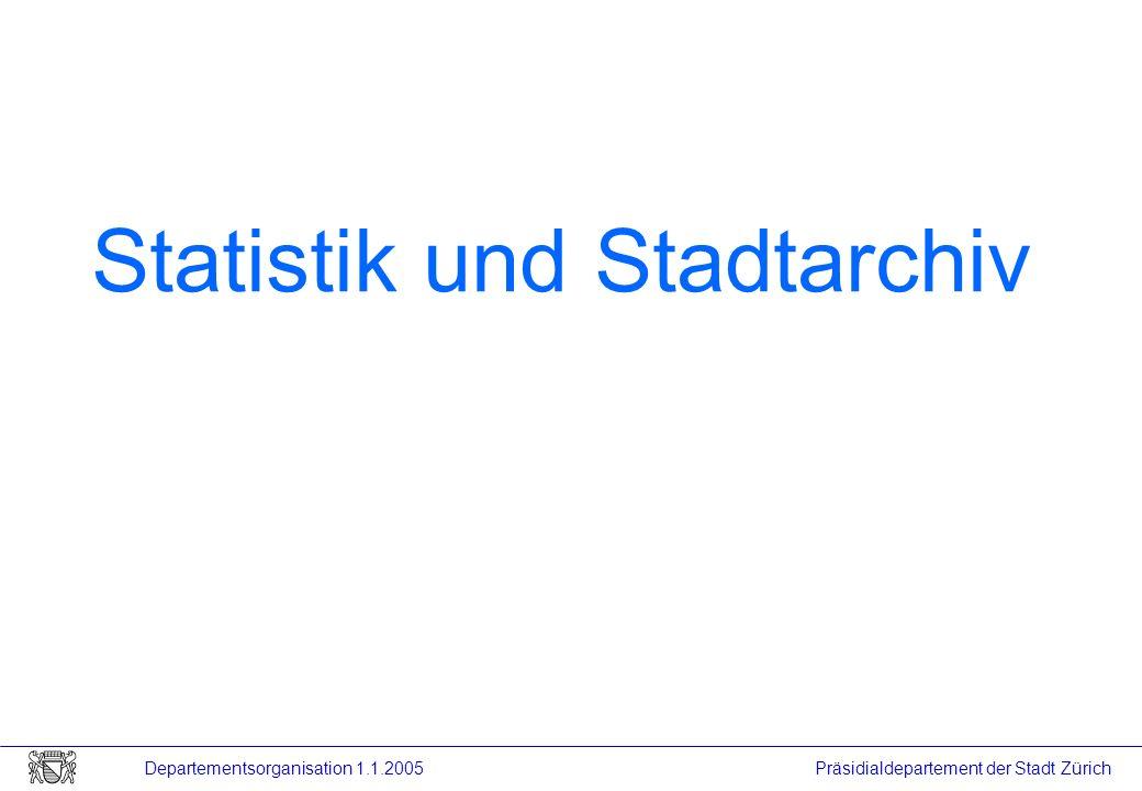 Statistik und Stadtarchiv