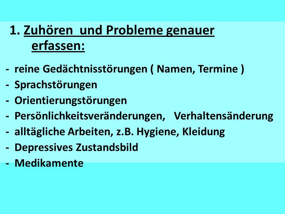 1. Zuhören und Probleme genauer erfassen: