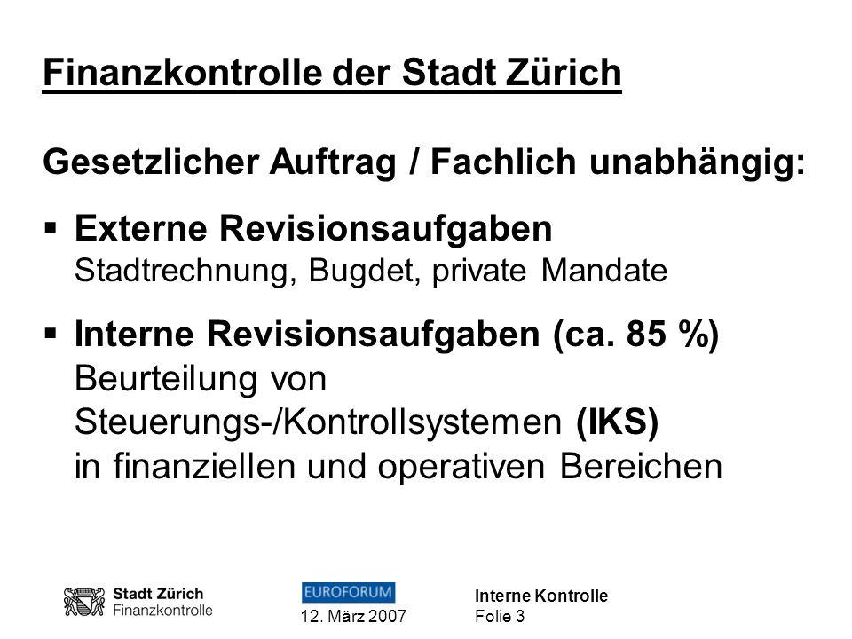 Finanzkontrolle der Stadt Zürich