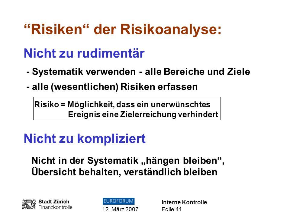 Risiken der Risikoanalyse: