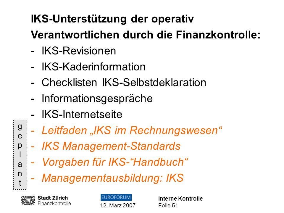 IKS-Unterstützung der operativ