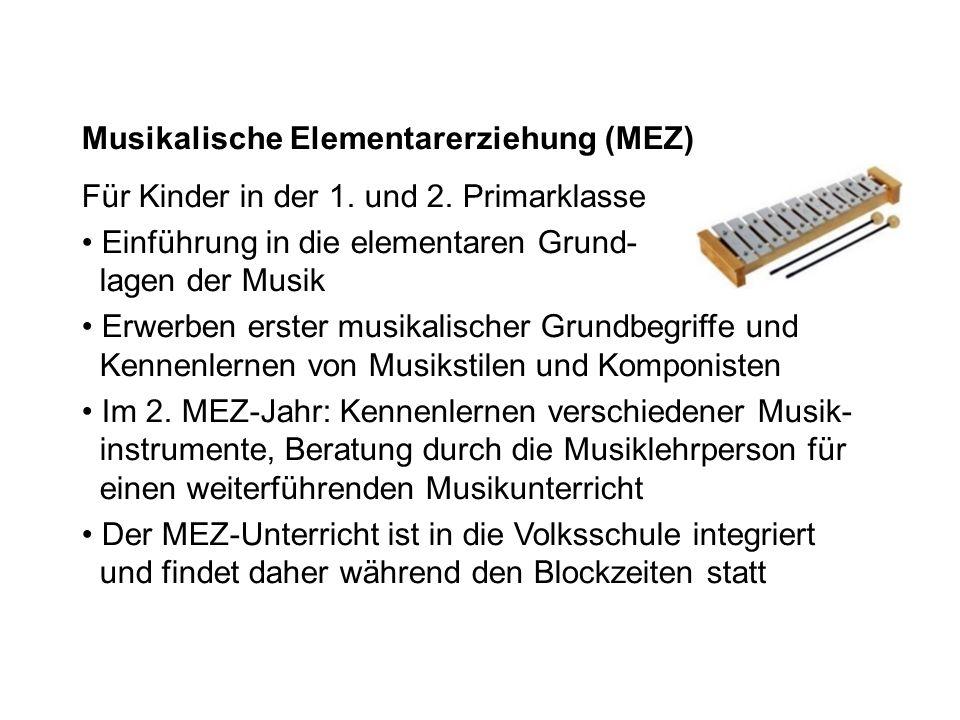 Musikalische Elementarerziehung (MEZ)