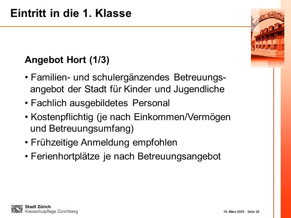 Angebot Hort (1/3) Familien- und schulergänzendes Betreuungs- angebot der Stadt für Kinder und Jugendliche.