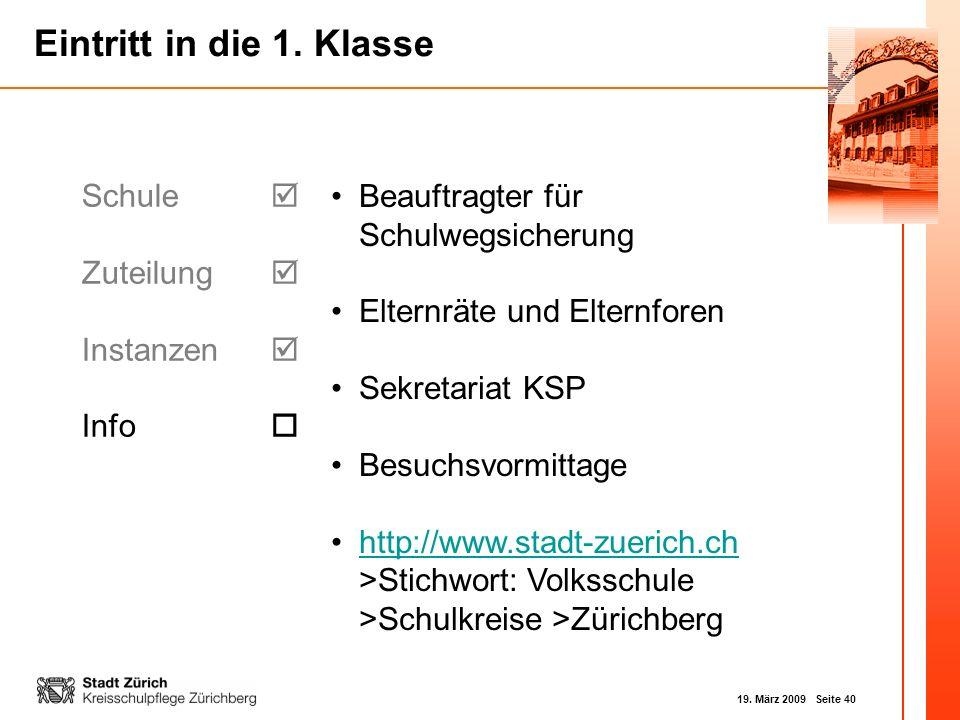 Schule  Zuteilung  Instanzen  Info  Beauftragter für Schulwegsicherung. Elternräte und Elternforen.