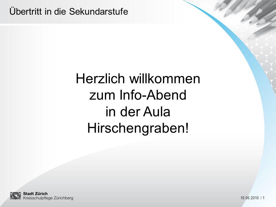 Herzlich willkommen zum Info-Abend in der Aula Hirschengraben!