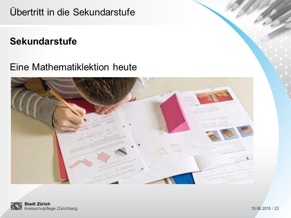 Sekundarstufe Eine Mathematiklektion heute