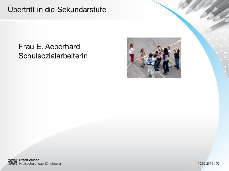 Frau E. Aeberhard Schulsozialarbeiterin