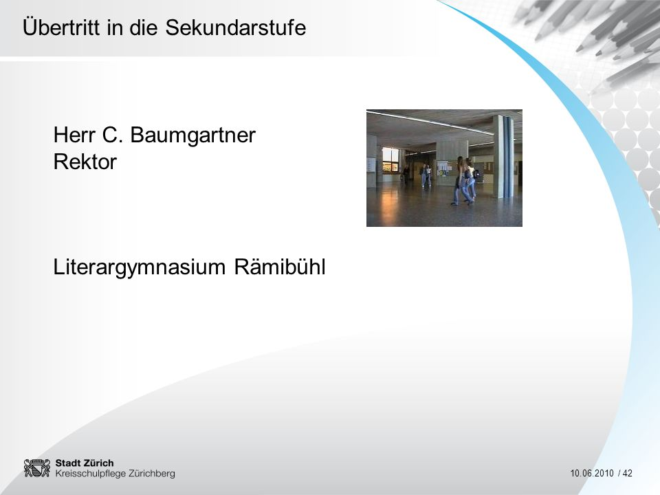Herr C. Baumgartner Rektor