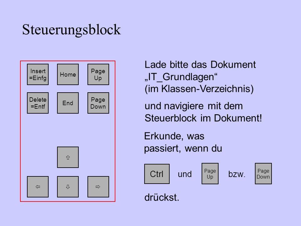 """Steuerungsblock Lade bitte das Dokument """"IT_Grundlagen"""