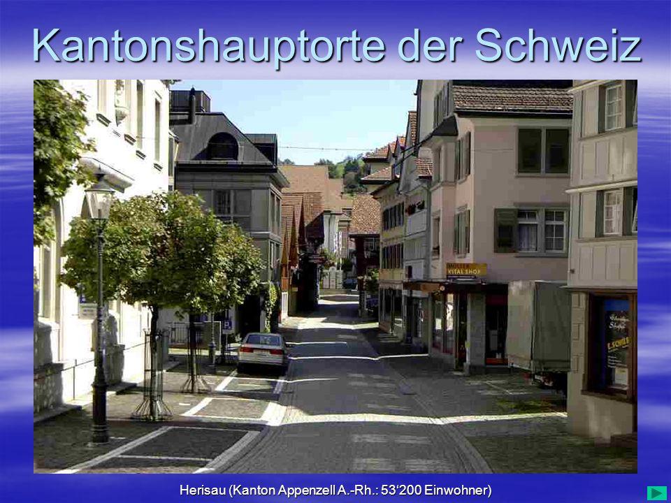 Herisau (Kanton Appenzell A.-Rh.: 53'200 Einwohner)