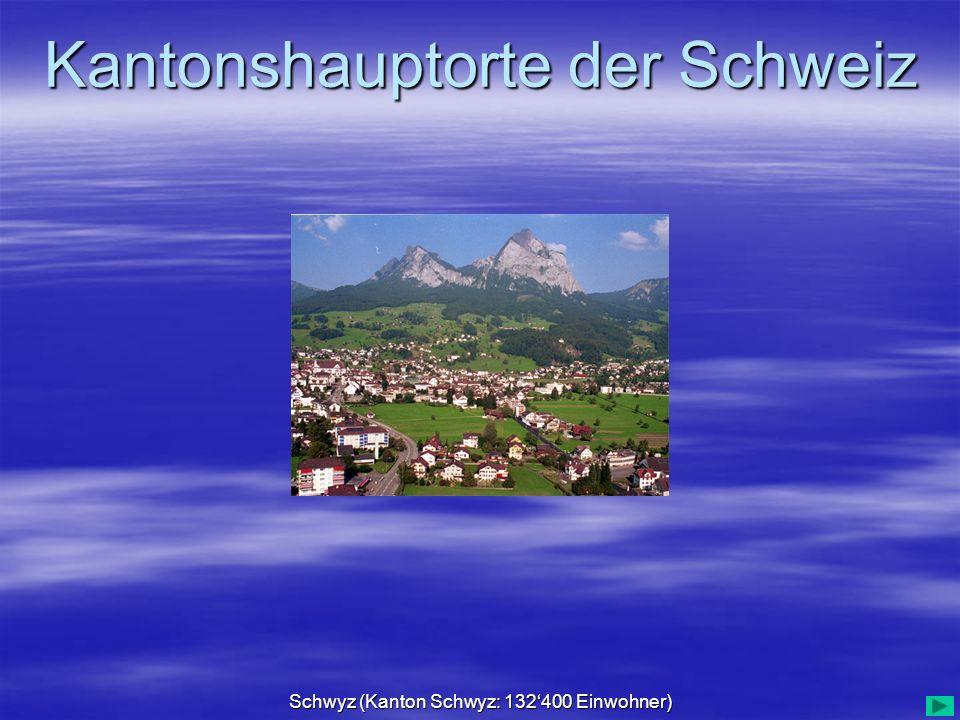 Schwyz (Kanton Schwyz: 132'400 Einwohner)