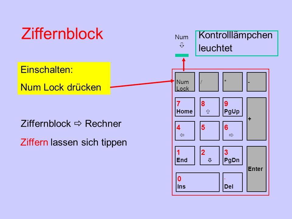 Ziffernblock  Rechner