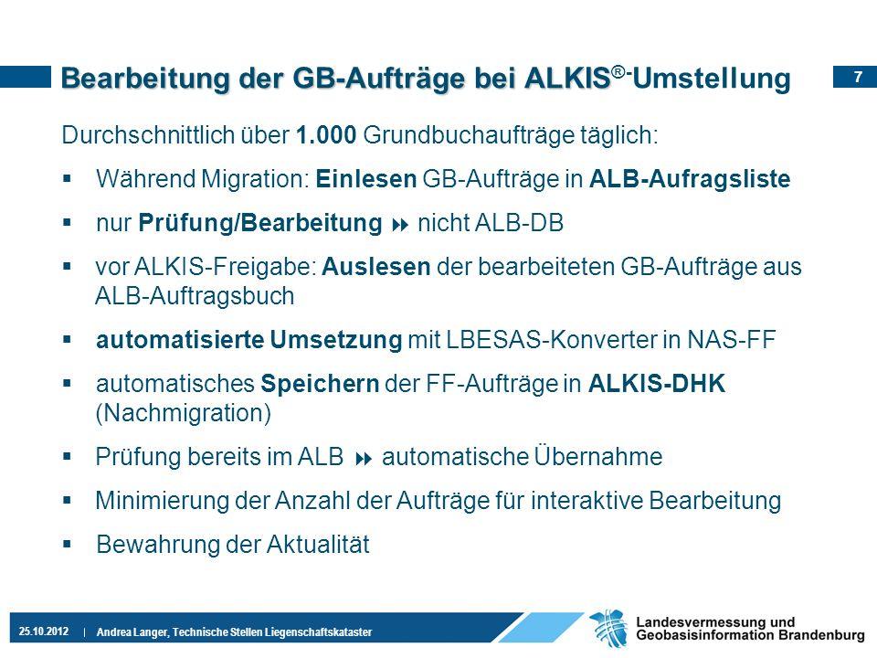 Bearbeitung der GB-Aufträge bei ALKIS®-Umstellung