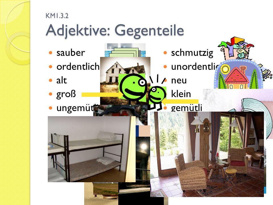 KM1.3.2 Adjektive: Gegenteile