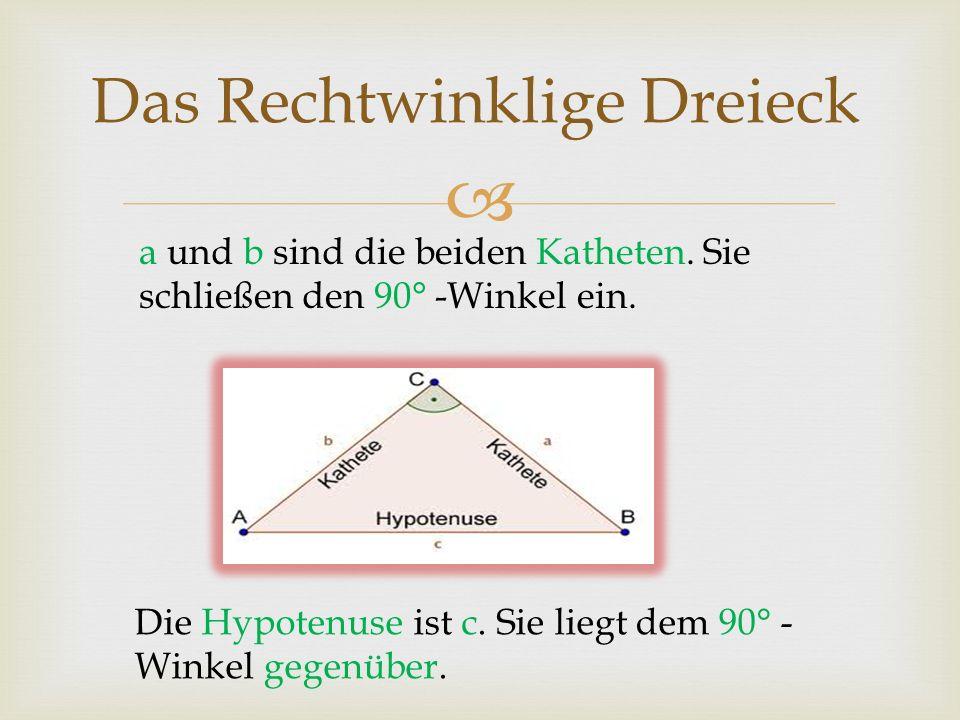 Das Rechtwinklige Dreieck