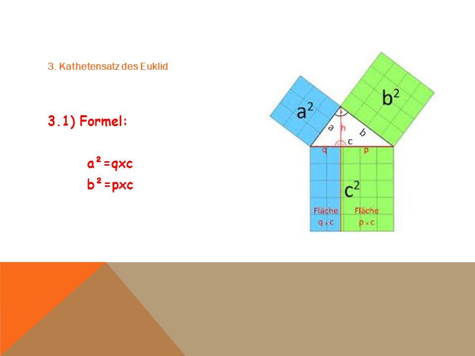 3. Kathetensatz des Euklid