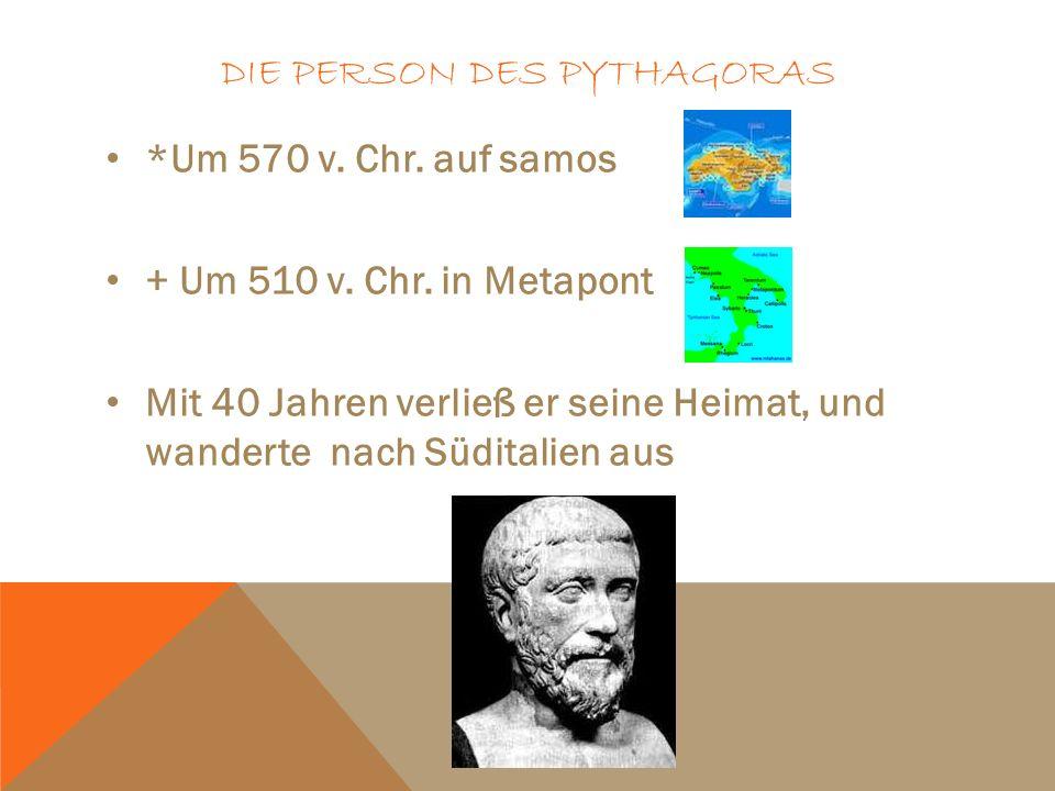 Die Person des Pythagoras