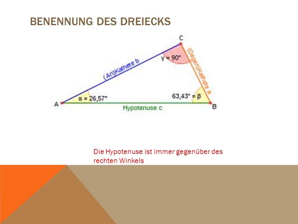 Benennung des Dreiecks