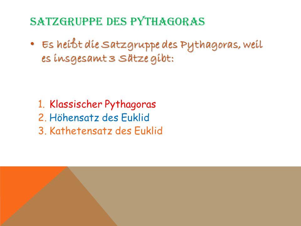 Satzgruppe des Pythagoras