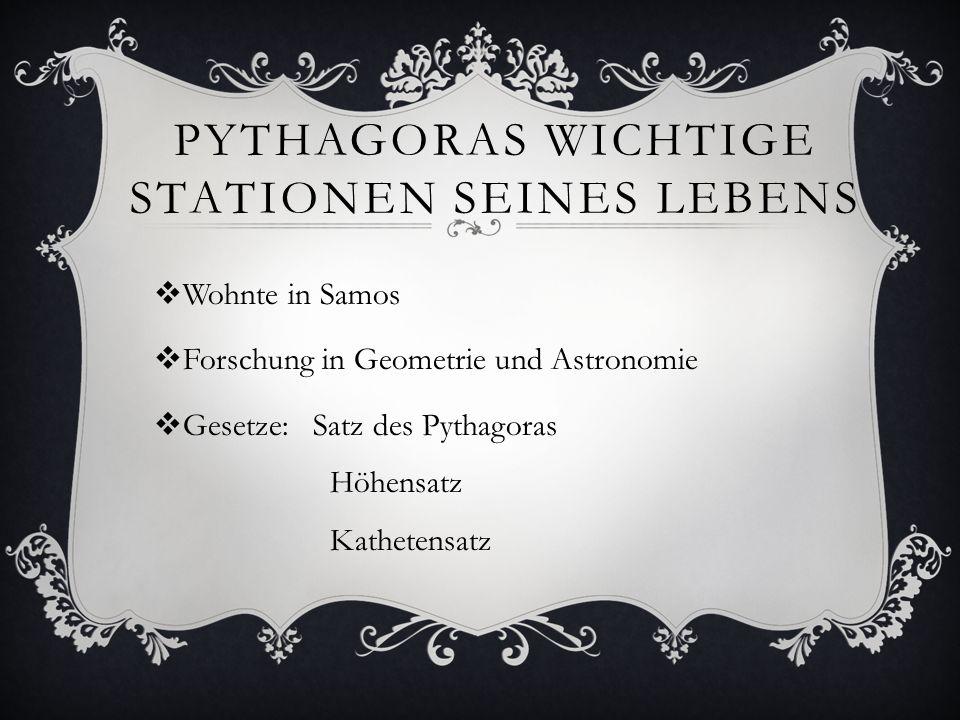 Pythagoras wichtige Stationen seines Lebens