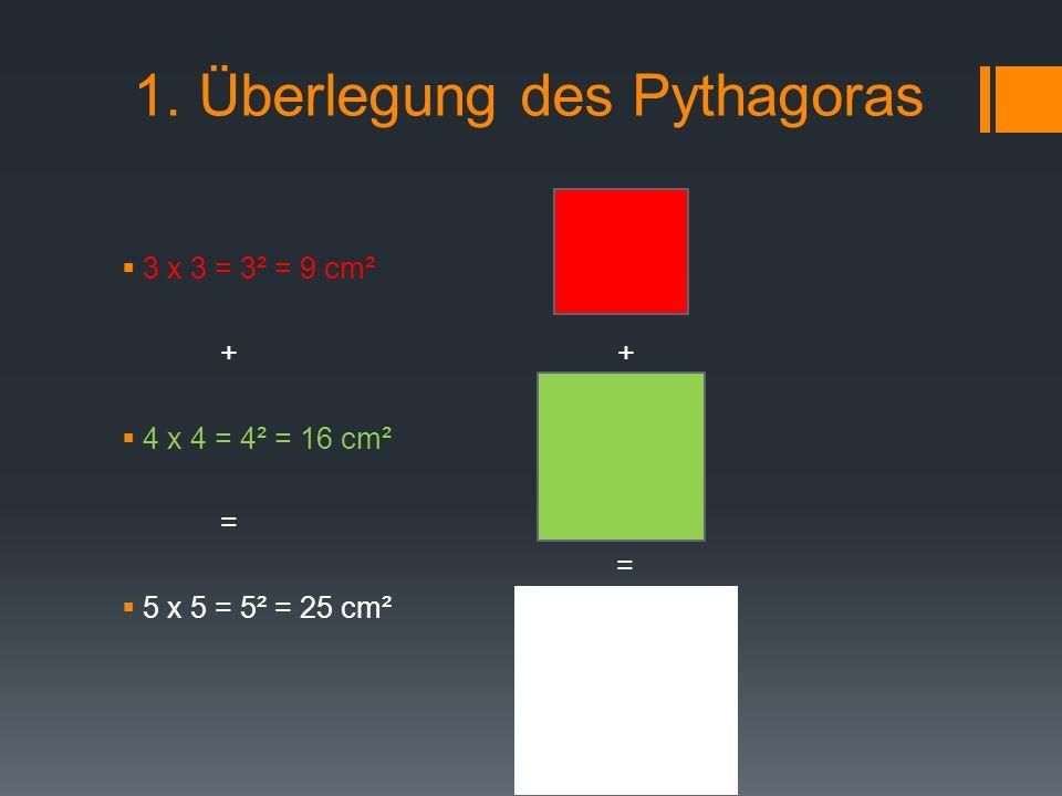 1. Überlegung des Pythagoras