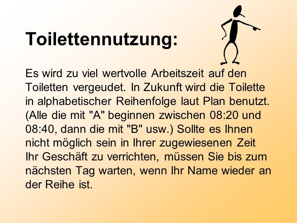 Toilettennutzung: