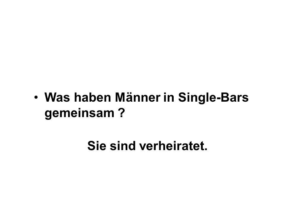 Was haben Männer in Single-Bars gemeinsam