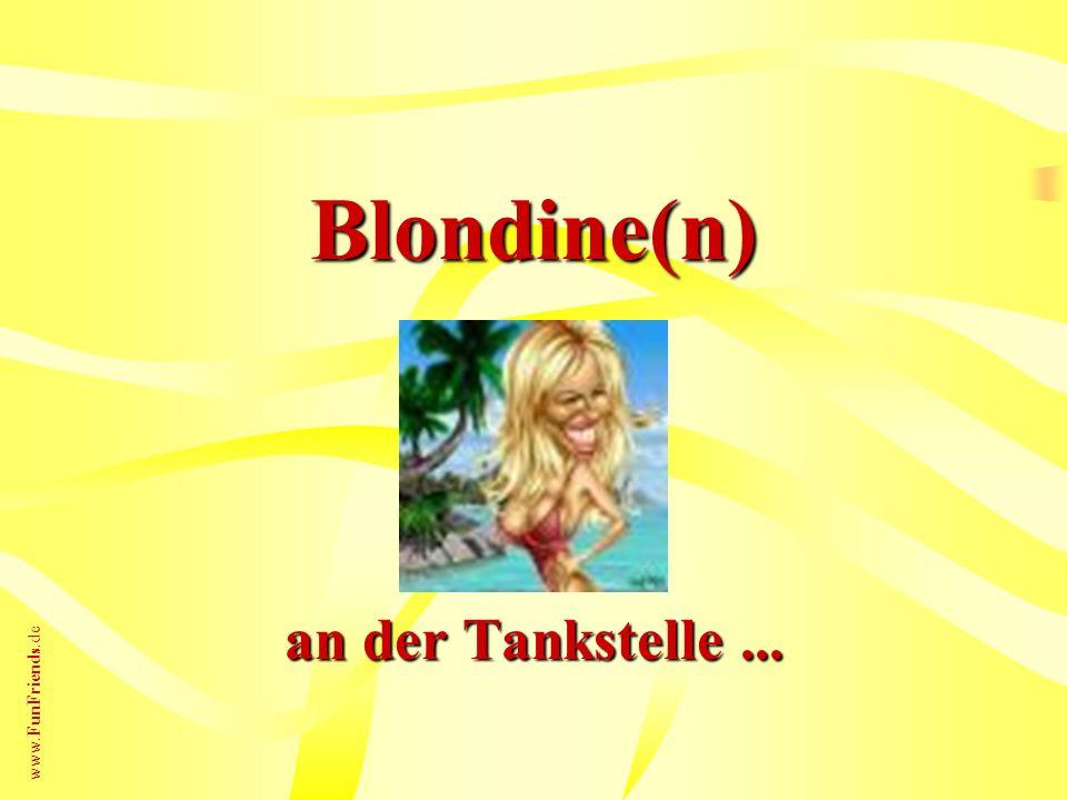 Blondine(n) an der Tankstelle ...