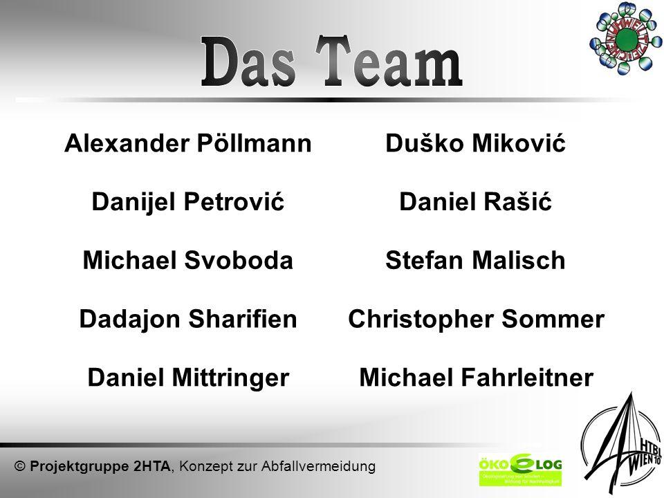 Das Team Alexander Pöllmann Duško Miković Danijel Petrović