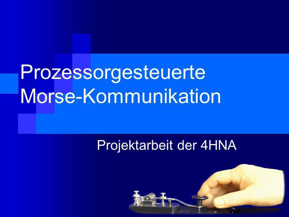 Prozessorgesteuerte Morse-Kommunikation