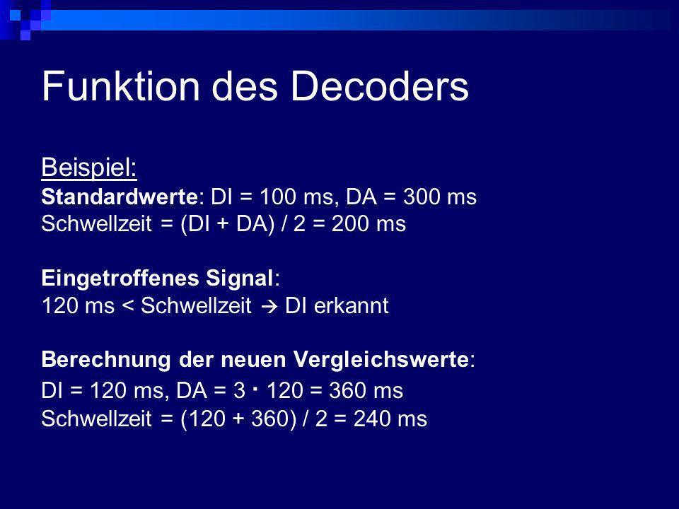 Funktion des Decoders Beispiel: