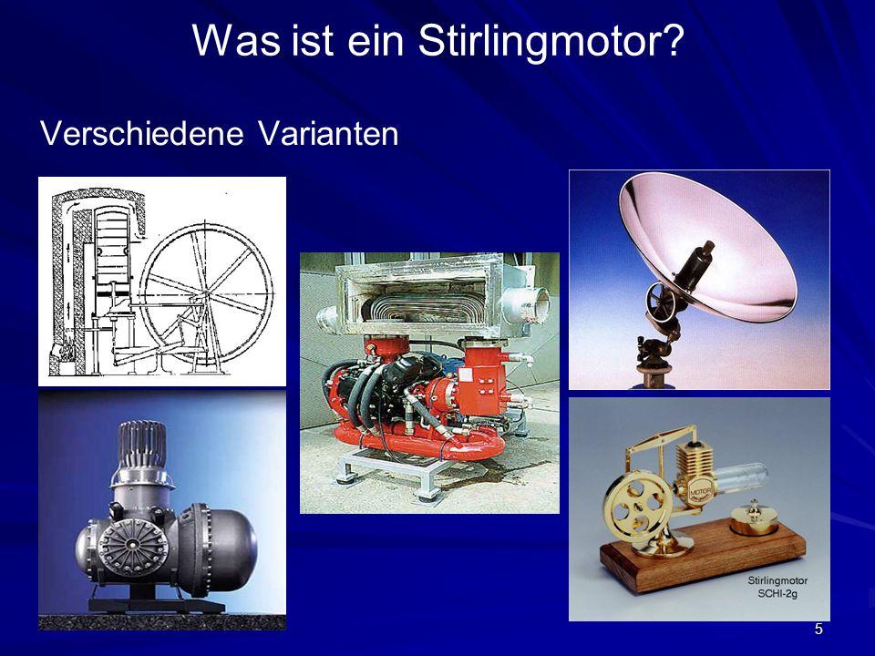 Was ist ein Stirlingmotor