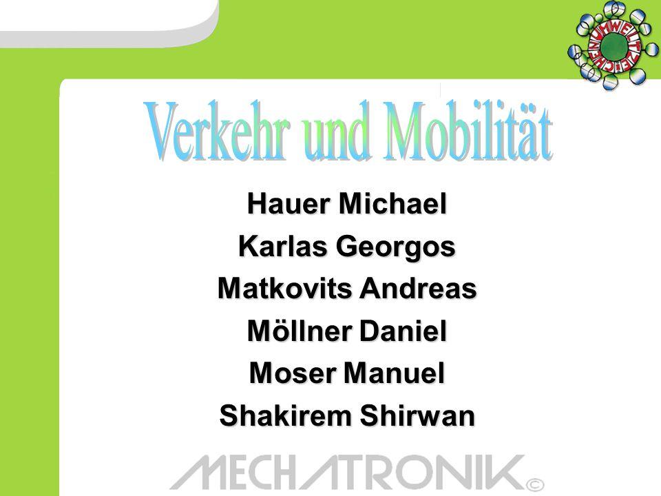 Verkehr und Mobilität Hauer Michael Karlas Georgos Matkovits Andreas
