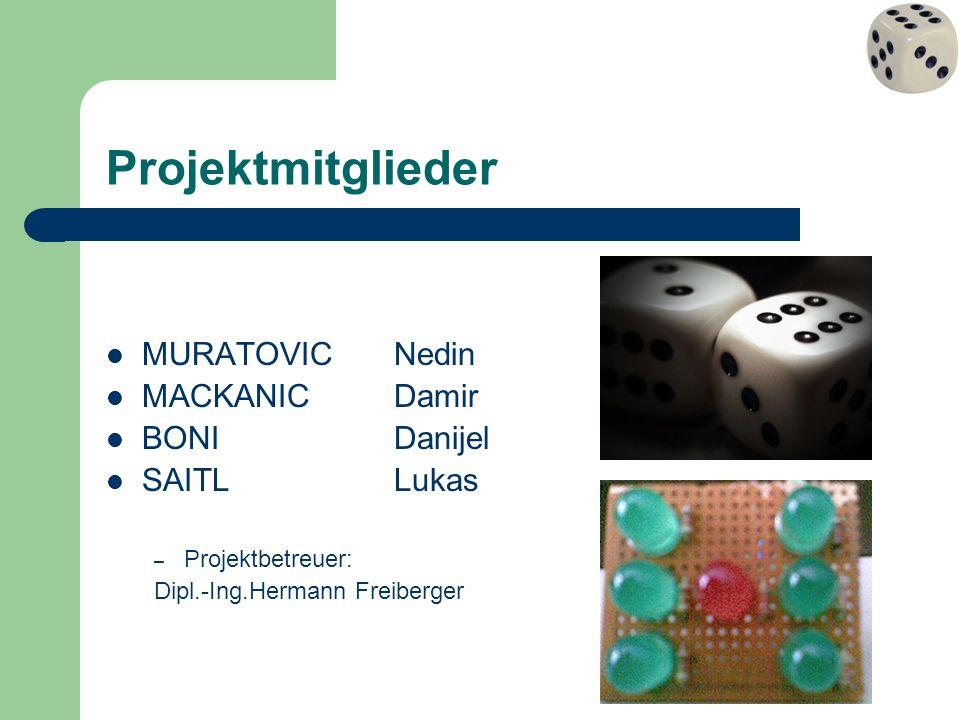 Projektmitglieder MURATOVIC Nedin MACKANIC Damir BONI Danijel