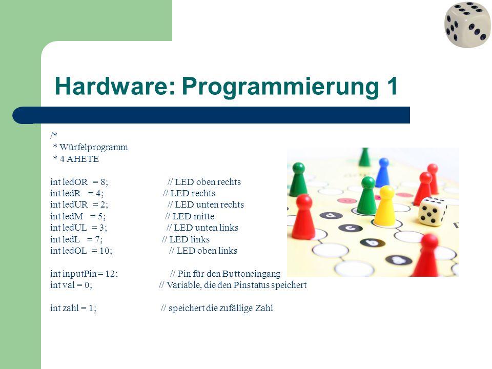 Hardware: Programmierung 1