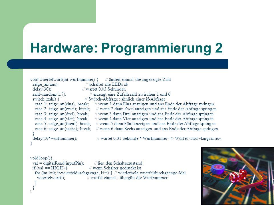 Hardware: Programmierung 2