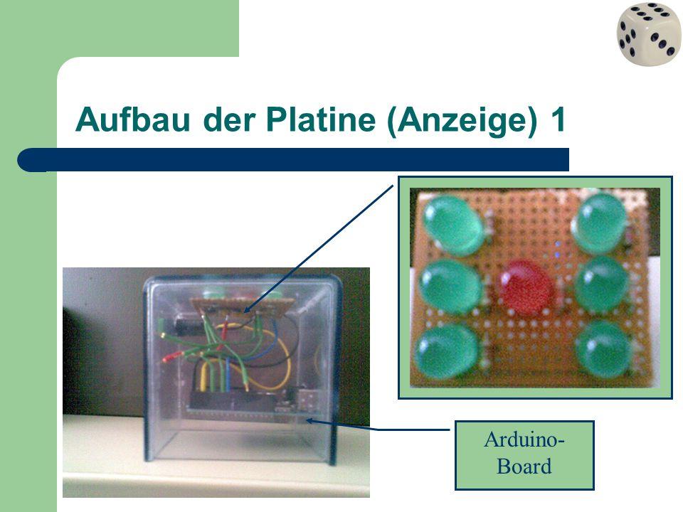 Aufbau der Platine (Anzeige) 1