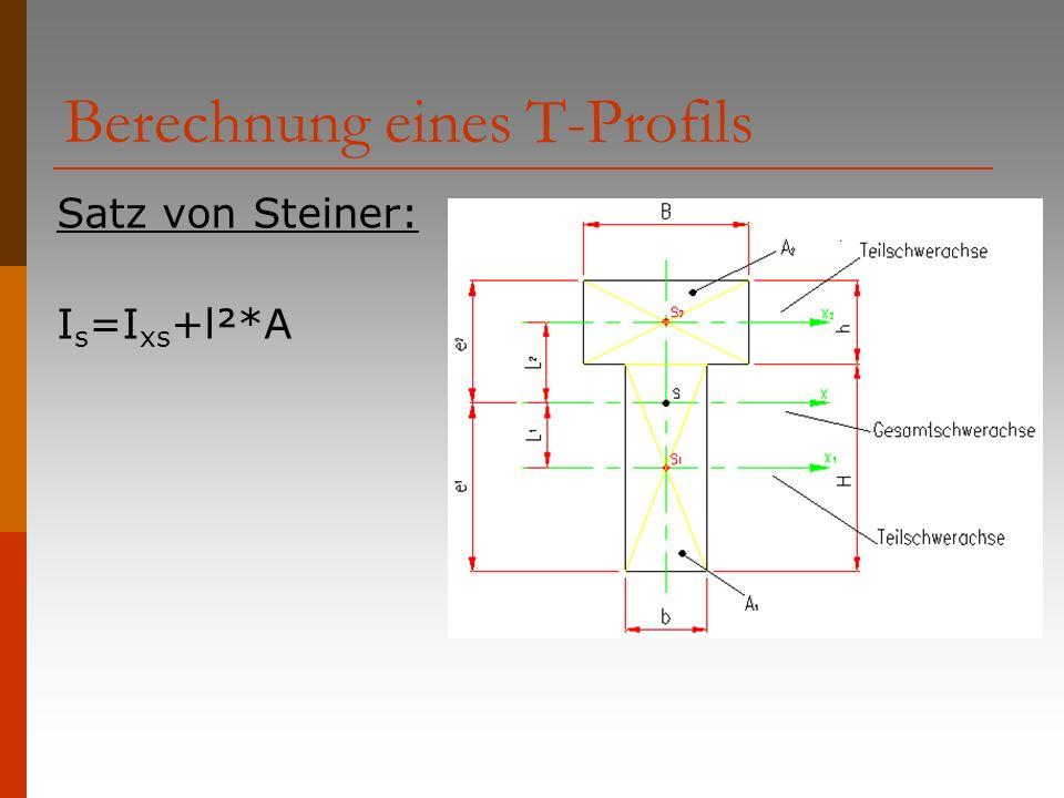 Berechnung eines T-Profils