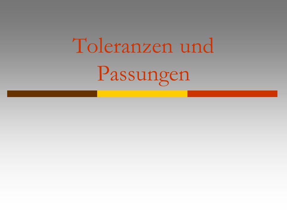 Toleranzen und Passungen