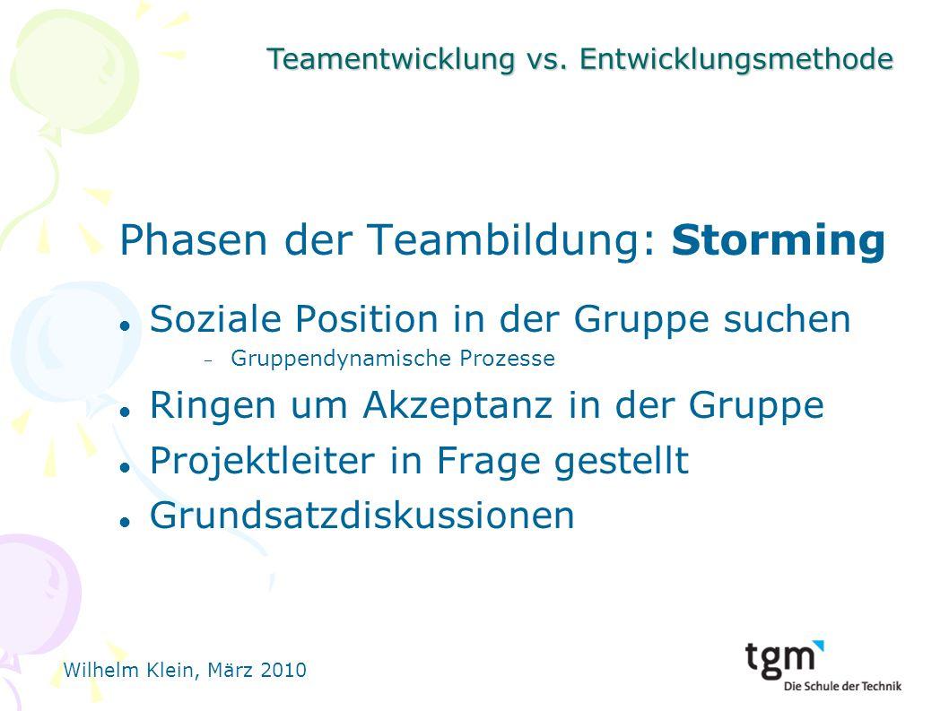 Phasen der Teambildung: Storming