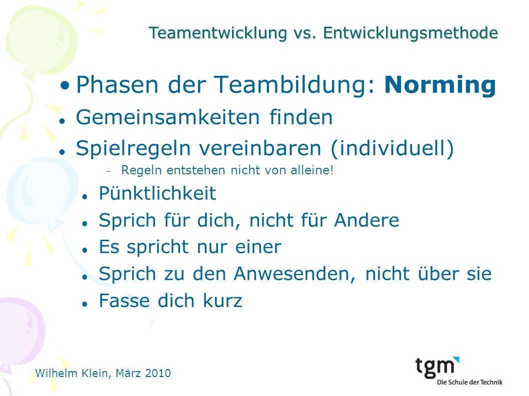 Phasen der Teambildung: Norming