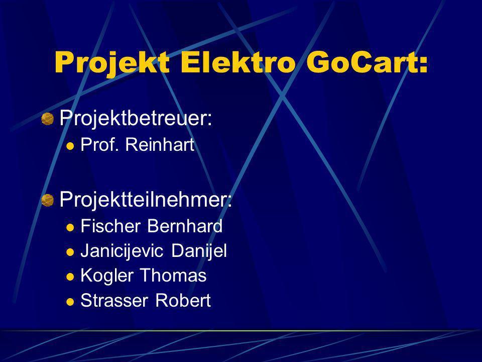 Projekt Elektro GoCart: