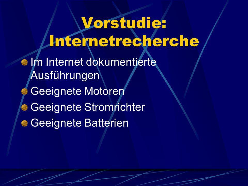 Vorstudie: Internetrecherche