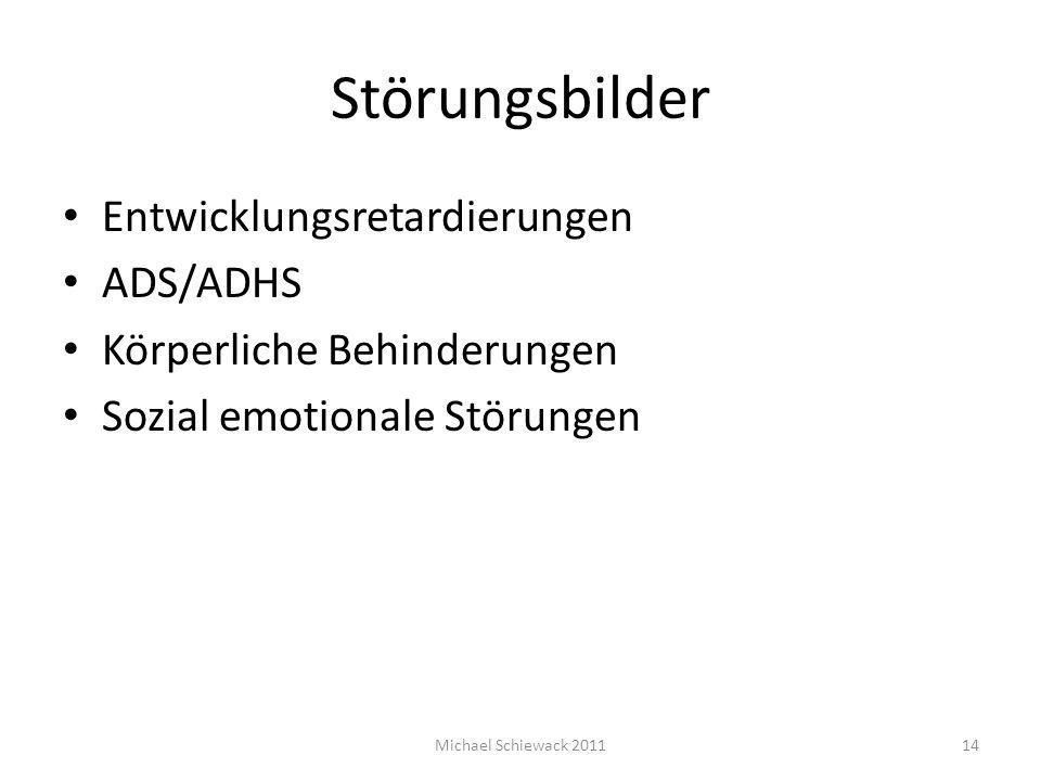 Störungsbilder Entwicklungsretardierungen ADS/ADHS