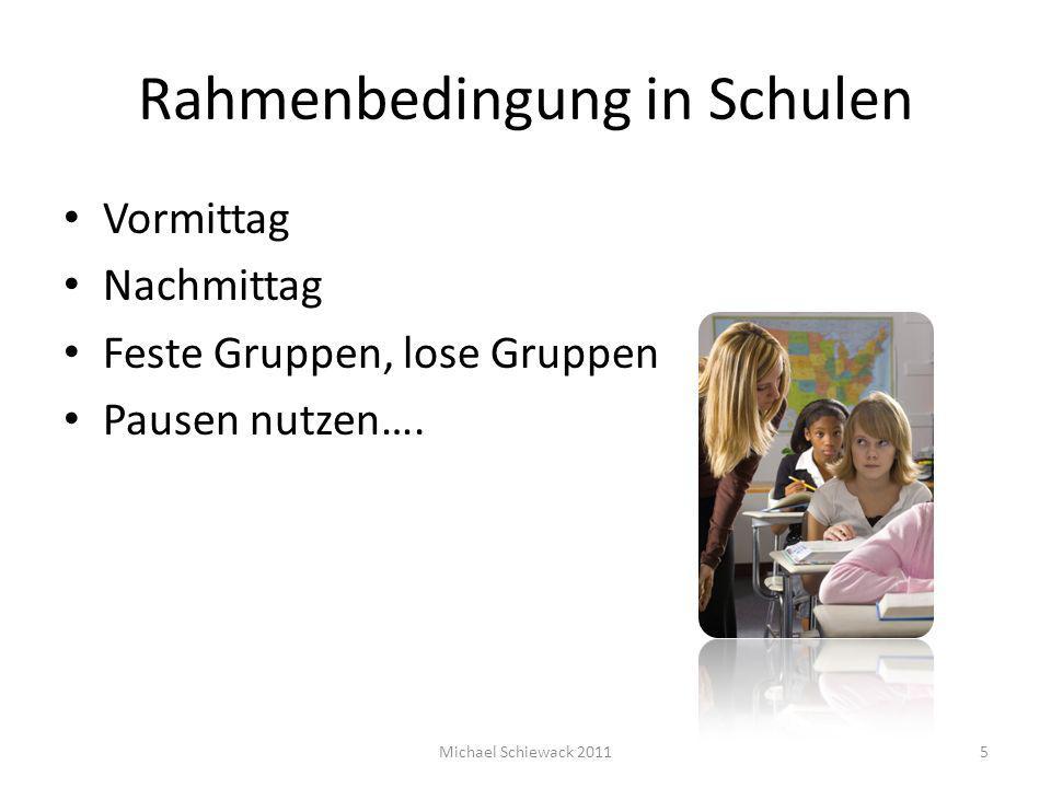 Rahmenbedingung in Schulen