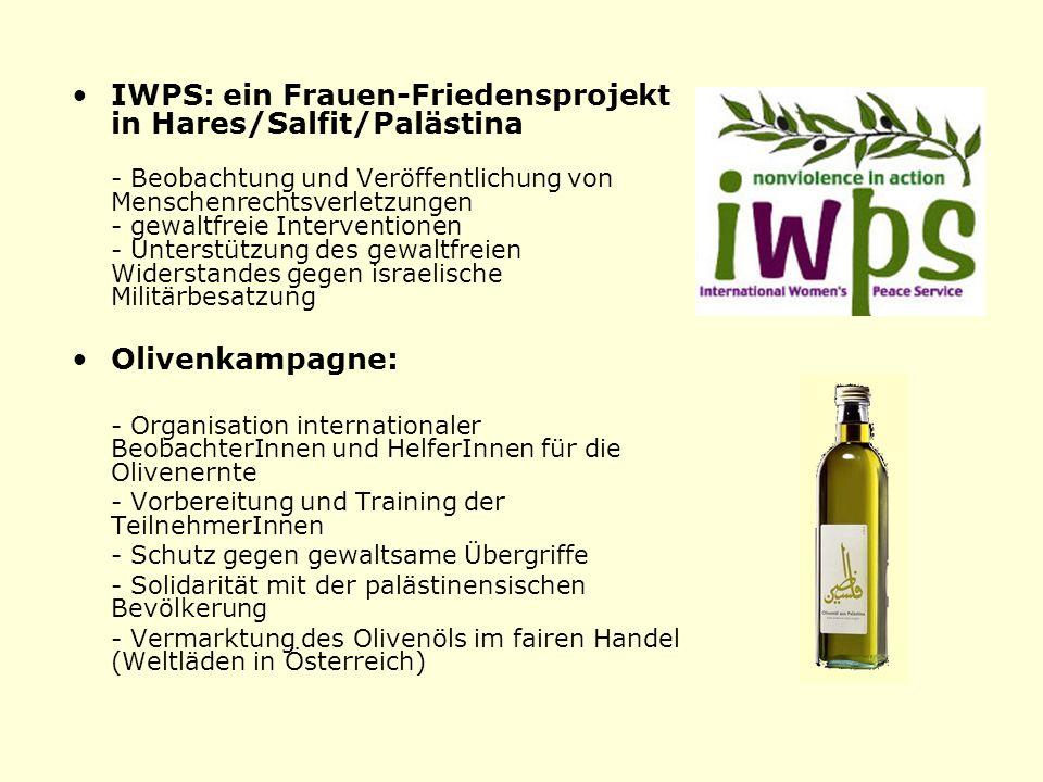 IWPS: ein Frauen-Friedensprojekt in Hares/Salfit/Palästina