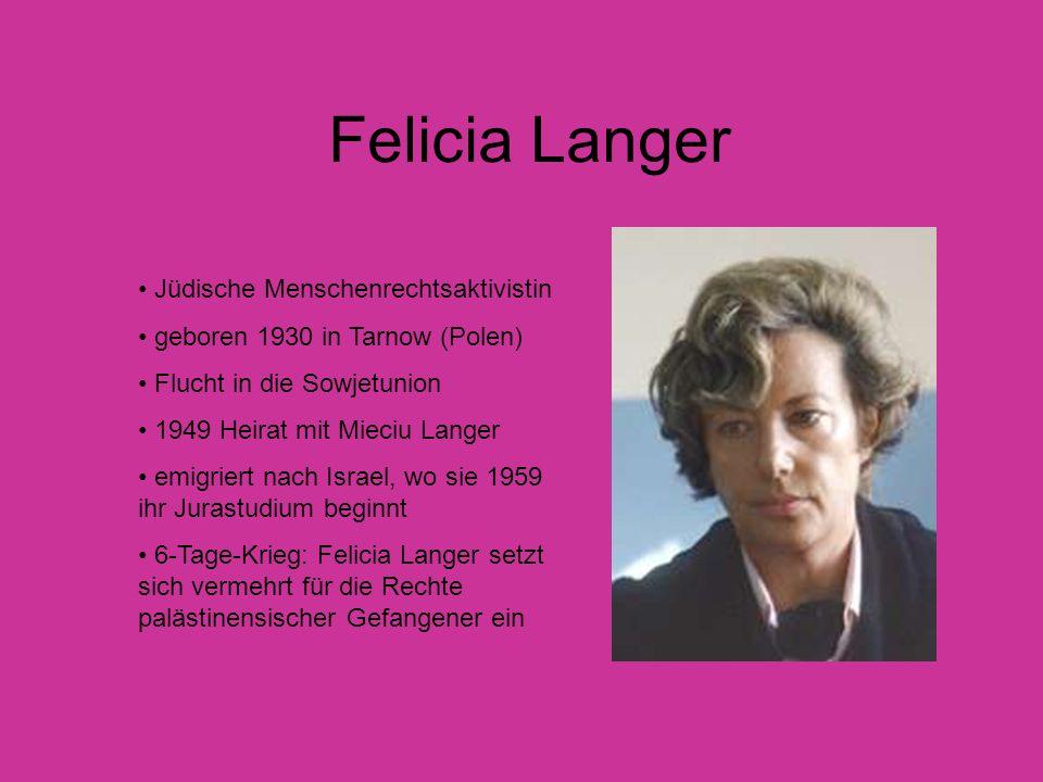 Felicia Langer Jüdische Menschenrechtsaktivistin