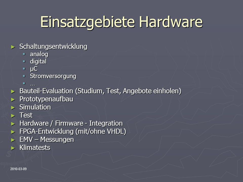 Einsatzgebiete Hardware